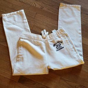 Men's White Hollister Sweatpants